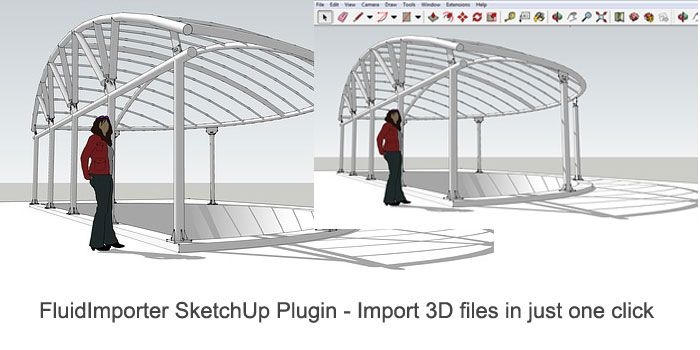 fluidimporter for sketchup